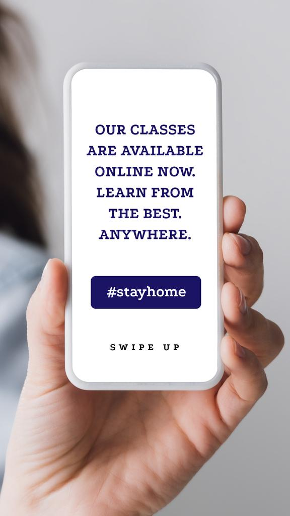 #StayHome Online Education Platform on Phone screen — Modelo de projeto