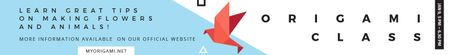Plantilla de diseño de Origami Classes Invitation Bird Paper Figure Leaderboard