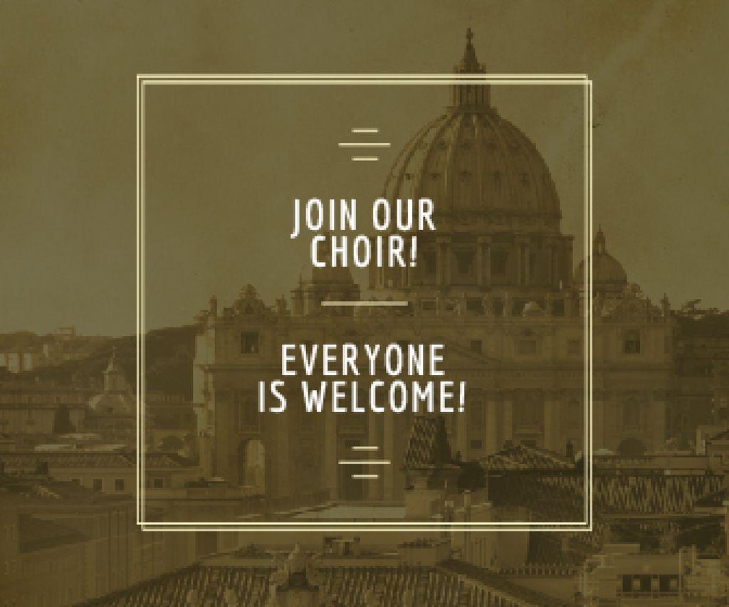 Invitation to religion choir — Створити дизайн