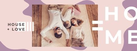 Designvorlage Parents spending time with daughter für Facebook cover