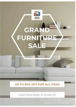 Grand furniture Sale with Cozy White Room