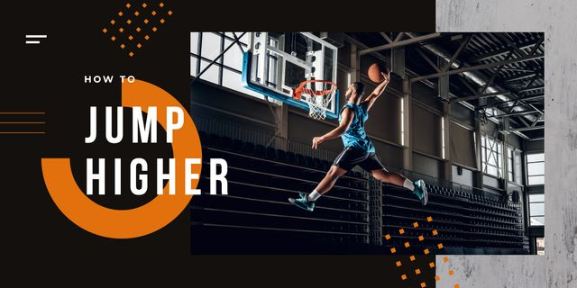 Template di design Man playing basketball Image