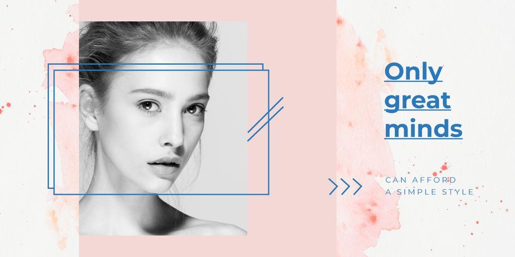 Young girl without makeup — Создать дизайн