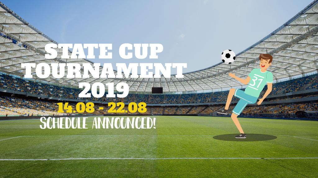Soccer Match Announcement Man Playing Football — Crea un design