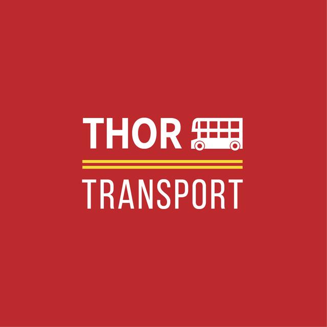Modèle de visuel City Transport with Double-Decker Bus Icon - Logo