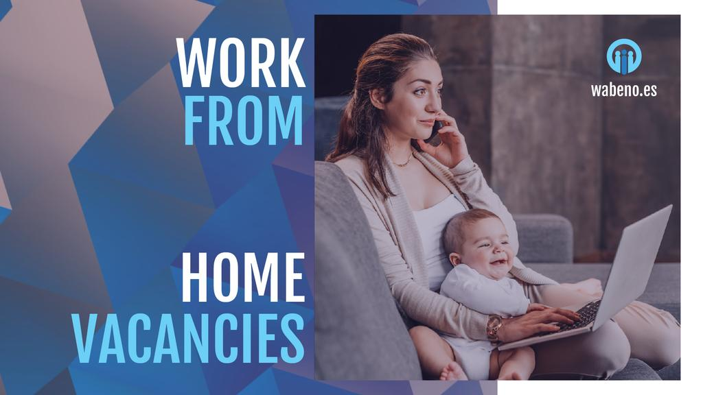 Freelancer Mother Working at Home with Baby — Crea un design