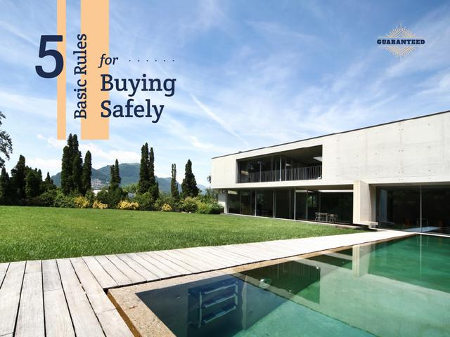 Real Estate Rules for Buying Home Presentation Modelo de Design