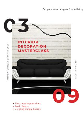 Plantilla de diseño de Masterclass of Interior decoration Poster