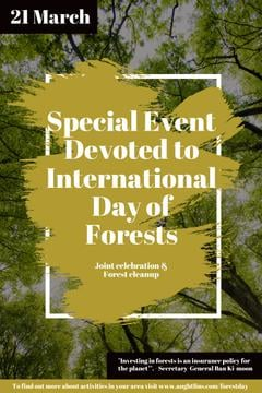 International Day of Forests Event with Tall Trees