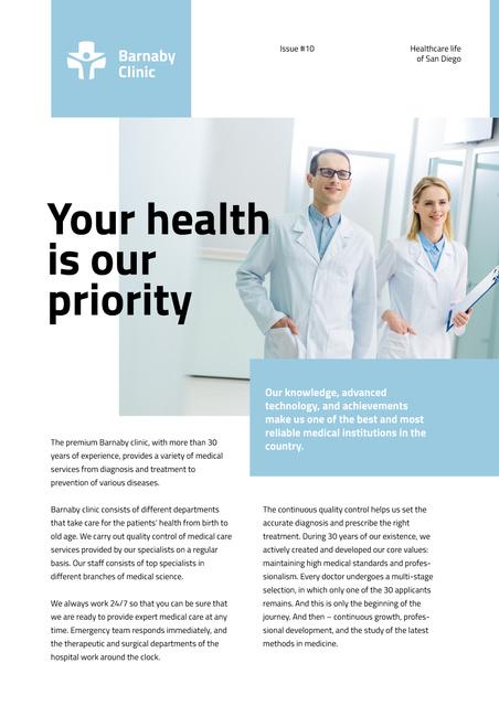 Dental Clinic professional Doctors team Newsletter Modelo de Design