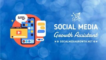 Social Media Management Phone Pop-Up Icons