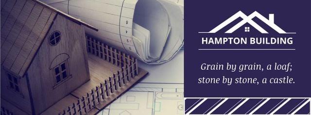 Plantilla de diseño de Real Estate Offer with toy House Facebook cover