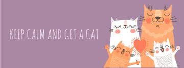 Keep calm and get a Cat Quote with cute cats