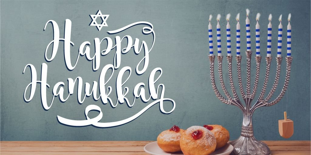 Happy Hanukkah greeting card  — Створити дизайн
