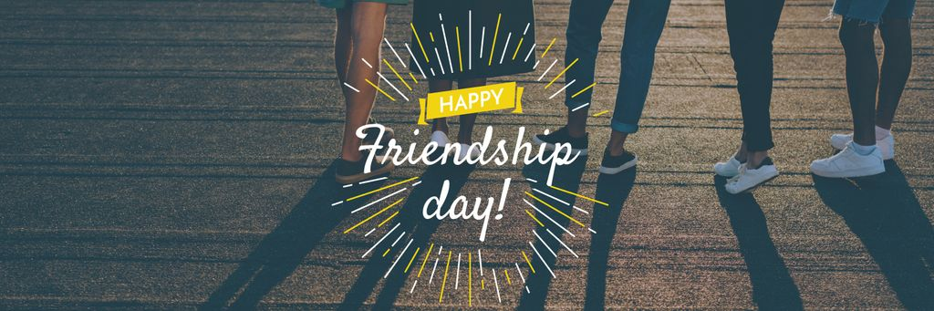 Friendship Day Greeting Young People Together — Створити дизайн
