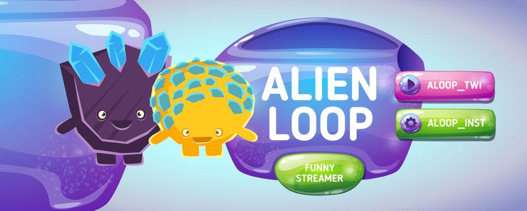 Funny Streamer Ad with Cute Aliens — ein Design erstellen