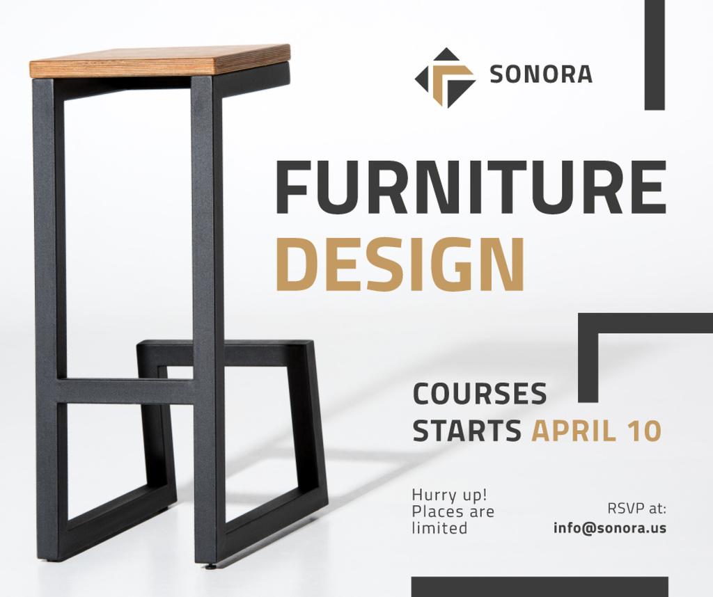 Custom Furniture Ad Modern Wooden Chair Facebook Modelo de Design