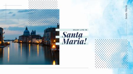 Santa Maria city view Youtube Design Template