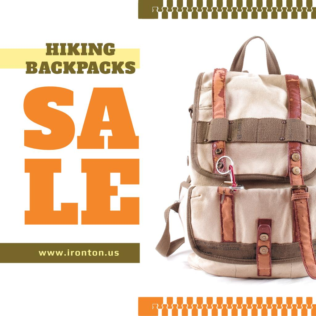 Vintage Hiking Backpack Sale | Instagram Post Template — Create a Design