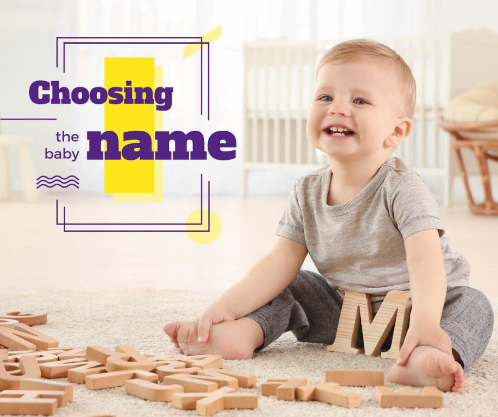 Child playing with letters — Crear un diseño