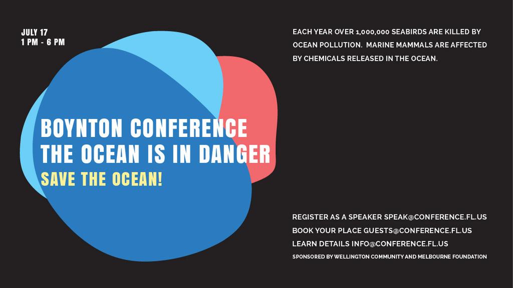 Boynton conference the ocean is in danger — ein Design erstellen