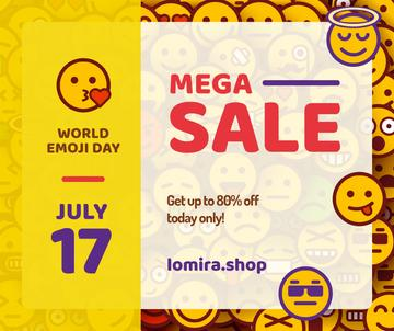 Sale Offer Funny Emoji Set | Facebook Post Template