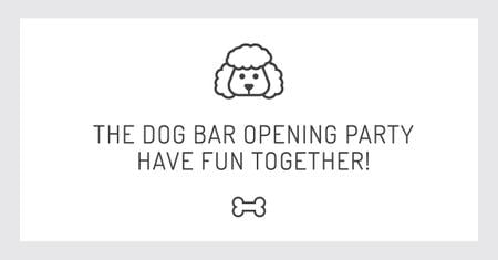 The dog bar Opening party with Puppy Icon Facebook AD Modelo de Design