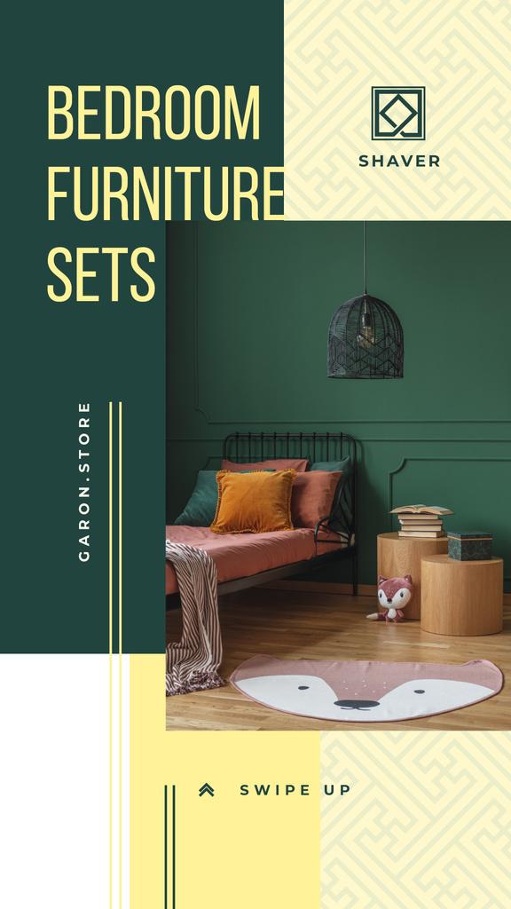 Cozy bedroom interior — Créer un visuel