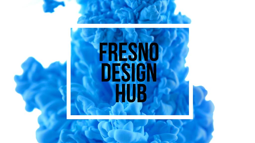 Blue ink splashing in water — Create a Design