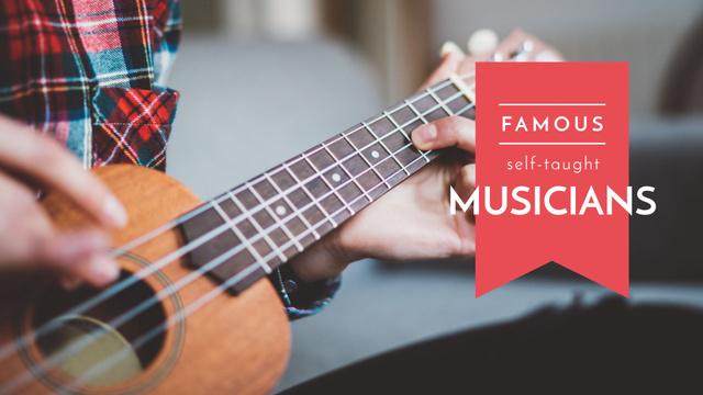 Famous self-taught musicians Presentation Wide Design Template