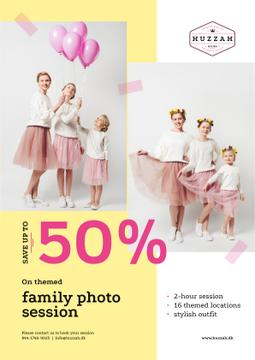 Family Photo Session Offer Mother with Daughters