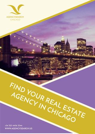 Template di design Real Estate in Chicago Advertisement Poster