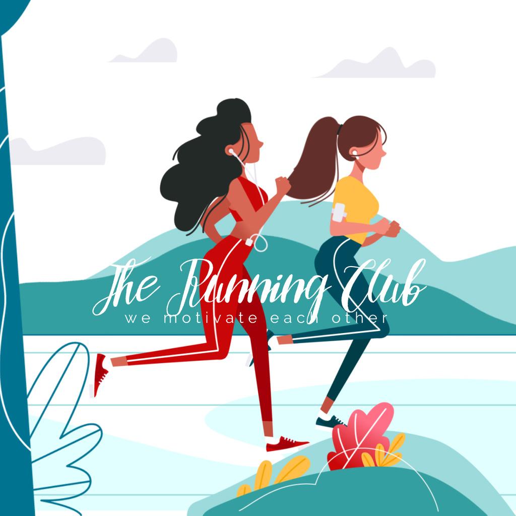 Women running in Park — Створити дизайн