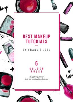 Cosmetics composition for Makeup tutorials