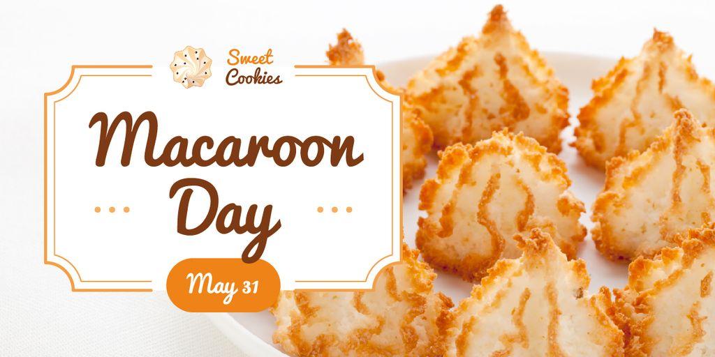 Sweet macaroon cookies — Crear un diseño