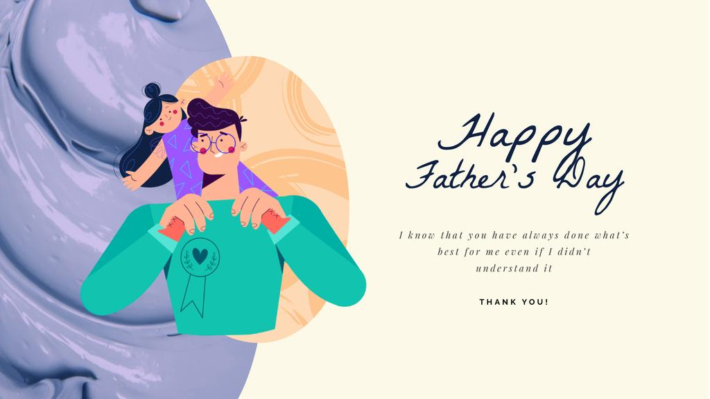 Dad Playing with Daughter on Father's Day  — Crear un diseño