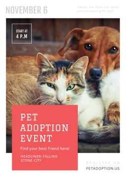 Pet adoption Event with Dog and Cat
