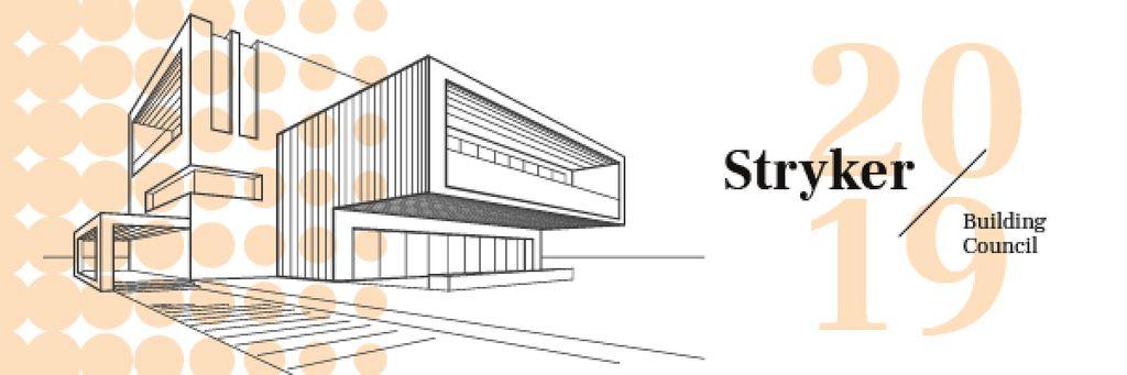 Building Council Ad with Modern House Facade Illustration — Crear un diseño