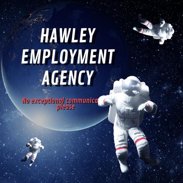 Plantilla de diseño de Astronauts in outer Space Animated Post