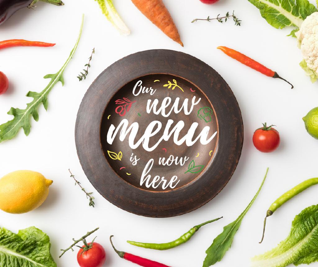 Meal with greens and Vegetables Facebook Tasarım Şablonu