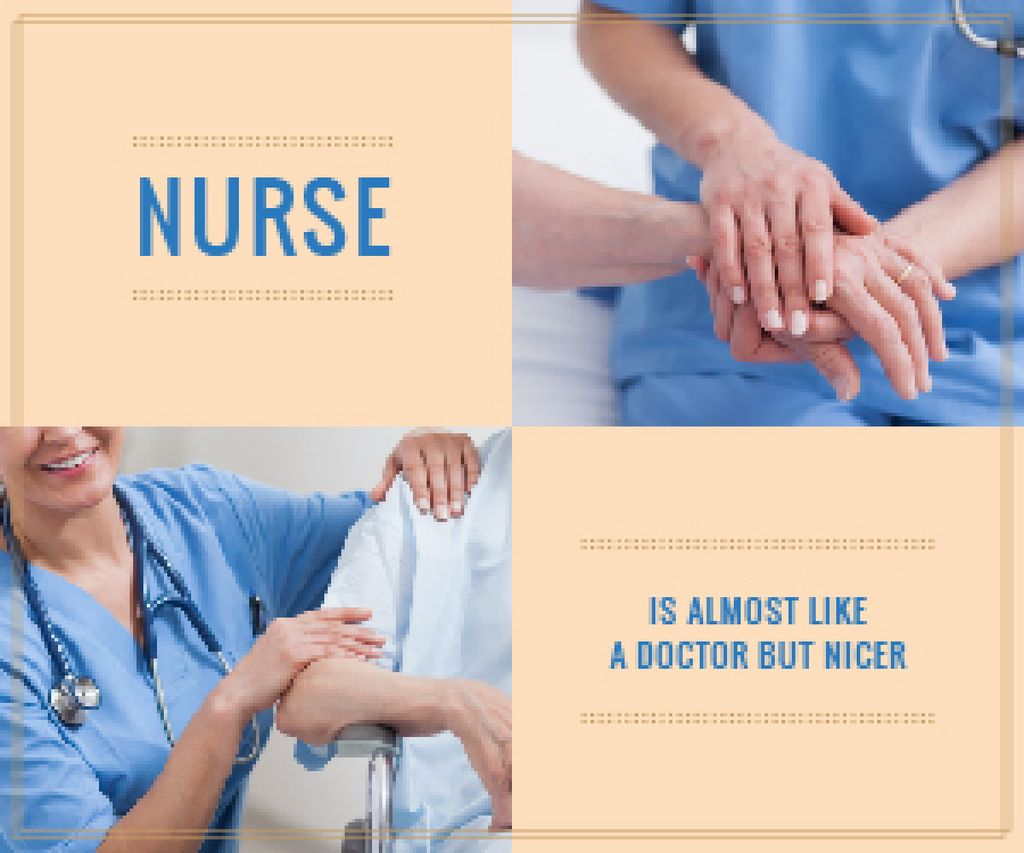 Nurse Caring About Patient — Створити дизайн