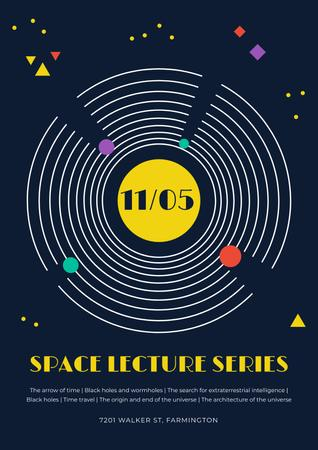 Plantilla de diseño de Space lecture series announcement Poster