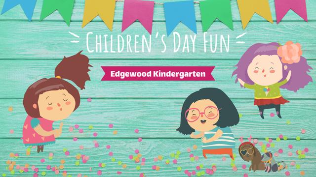 Ontwerpsjabloon van Full HD video van Kids dancing and having fun