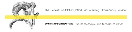 Modèle de visuel The Kindest Heart Charity Work - Twitter
