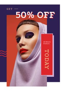 Sale Ad with Young attractive woman
