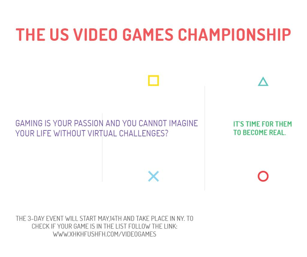 Video Games Championship announcement — Создать дизайн