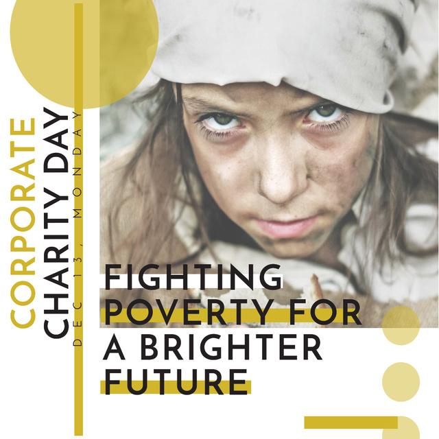 Ontwerpsjabloon van Instagram van Corporate Charity Day