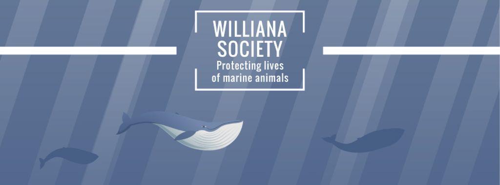 Whales swimming underwater — Создать дизайн