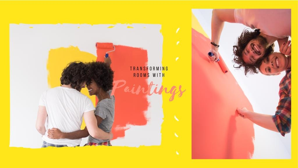 Couple renovating their home — Modelo de projeto