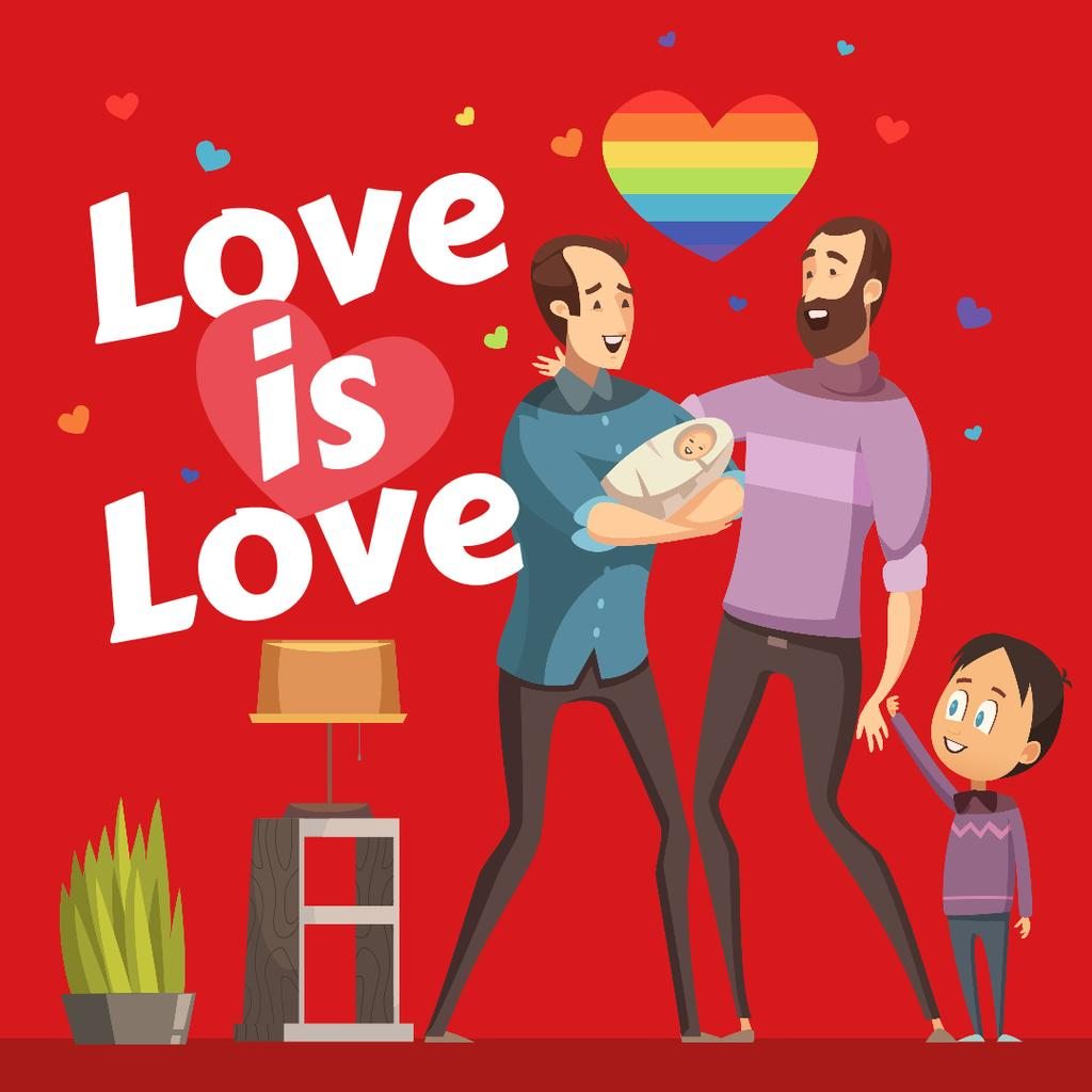 LGBT parents with children — Crear un diseño
